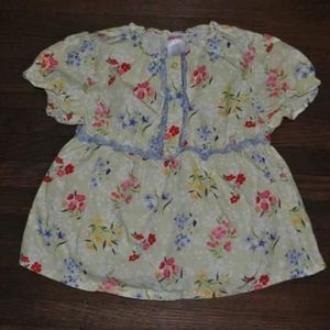 Gymboree Love Is In The Air Floral Blouse Size 5
